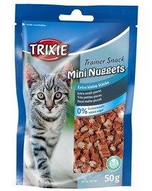 TRIXIE Training snacks Mini Nuggets tuňákem,kuřecím masem a catnipem 50 g