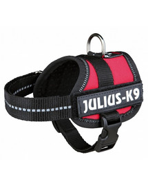 TRIXIE Postroj pro psy Julius-K9 postroj mini / M 51–67 cm červený