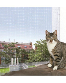 TRIXIE Ochranná síťka pro kočku. 75 x 2 m transparentní