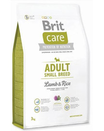 BRIT Care Dog Adult Small Breed Lamb&Rice 3kg