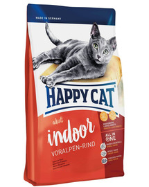 HAPPY CAT Fit & Well IndoorAdult Hovězí 10 kg