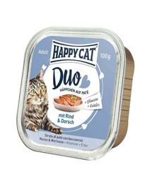 HAPPY CAT Duo set, Hovězí a treska 100 g