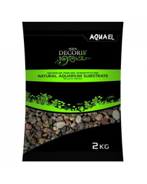 AQUAEL štěrk přírodní vícebarevný 1,4-2 mm 2kg