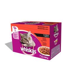 Whiskas masový pokrm v omáčce 12x0.1Kg x4