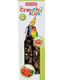 ZOLUX Crunchy Stick velké papoušky Rybít/jeřabina 115 g