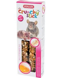 ZOLUX Crunchy Stick Potkan/Myš oves a vejce 115 g