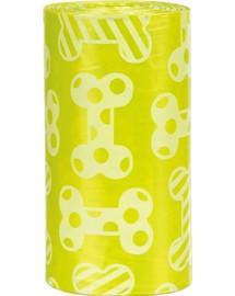 TRIXIE Trixie Náhradní sáčky žluté na trus M s vůní citrónů (4 role á 20ks)