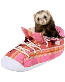 ZOLUX Pelíšek pro fretky ve tvaru boty růžový kostkovaný