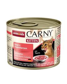 ANIMONDA Carny Kitten hovězí & krůtí srdíčka 200 g