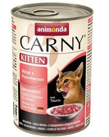 ANIMONDA Carny Kitten hovězí & krůtí srdíčka 400 g