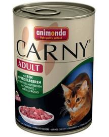 ANIMONDA Carny Adult Hovězí srnčí brusinky 400 g