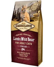 CARNILOVE Cat Sterilised Jehněčí/zvěřina 2 kg