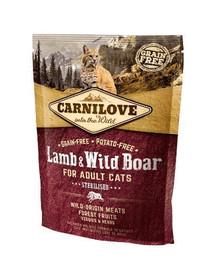 CARNILOVE Cat Sterilised Jehněčí/zvěřina 400 g
