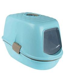 TRIXIE Kočičí WC Berto Top, nebesky  modrý/světle šedá/Grafitová, 39×42×59 cm