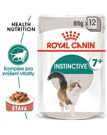 ROYAL CANIN Instinctive 7+ Gravy 85g x12 kapsička pro stárnoucí kočky ve šťávě