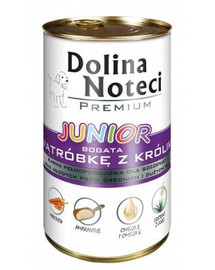 DOLINA NOTECI Premium Junior Bohatá na králičí játra 400g