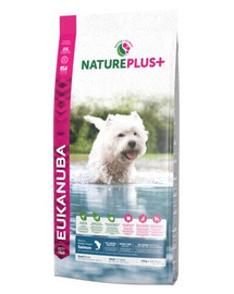 EUKANUBA Nature Plus+ Adult Small Breed Rich in freshly frozen Salmon 10 kg