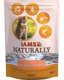 IAMS Naturally Adult Cat with North Atlantic Salmon & Rice 270 g