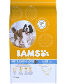 IAMS ProActive Health Puppy & Junior Large Breed Chicken 12 kg