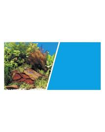 HAGEN Pozadí MARINA oboustranné rostliny / modré 45 cm x 7,6 cm