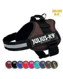 TRIXIE Postroj Julius-K9®, 0/M–L: 58–76 cm/40 mm, burgund