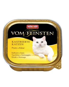 ANIMONDA Paštika pro kočky vom Feinsten Kastrierte krůtí a sýr  100 g