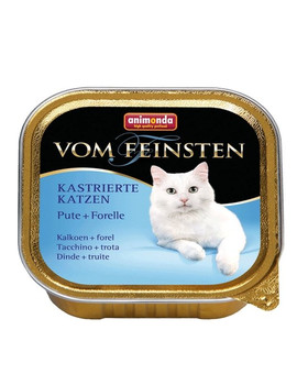 ANIMONDA Vom Feinsten paštika pro kastrované kočky krůta + pstruh 100 g