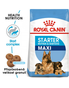 ROYAL CANIN Maxi Starter Mother&Babydog 15 kg granule pro březí nebo kojící feny a štěňata