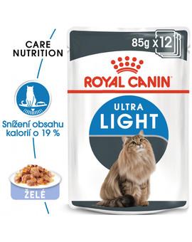 ROYAL CANIN Ultra Light Jelly 85g x 12 kapsička pro kočky s nadváhou v želé