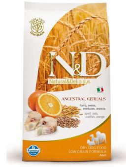 N&D Low Grain Dog Adult Mini Codfish & Orange 2,5 kg