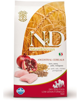 N&D Low Grain Dog Adult Maxi Chicken & Pomegranate 12kg