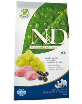 N&D Grain Free Dog Adult Lamb & Blueberry 12kg