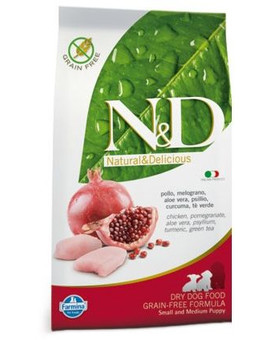 N&D Grain Free Puppy S/M Chicken & Pomegranate 12kg