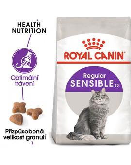 ROYAL CANIN  Sensible 10kg + 2kg zdarma granule pro kočky s citlivým zažíváním