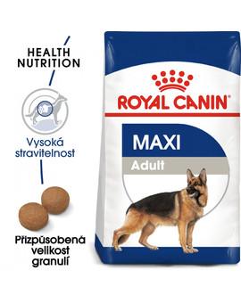 ROYAL CANIN Maxi adult 15 kg + 3 kg ZDARMA granule pro dospělé velké psy