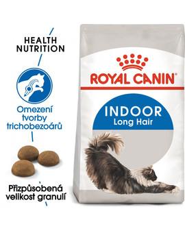 ROYAL CANIN Indoor Long Hair 2 kg granule pro kočky žijící uvnitř a zdravou srst