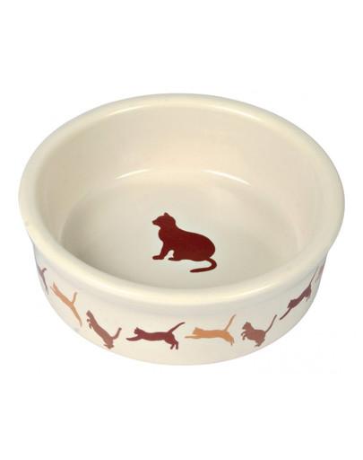 TRIXIE Miska keramická s dekorem pro kočku 250 ml / 11 cm