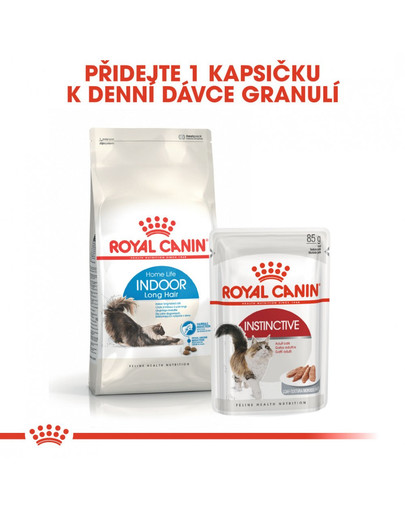 ROYAL CANIN Indoor Long Hair 4 kg granule pro kočky žijící uvnitř a zdravou srst