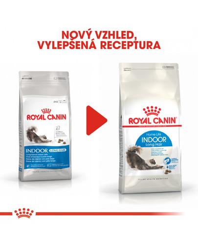 ROYAL CANIN Indoor Long Hair 10 kg granule pro kočky žijící uvnitř a zdravou srst