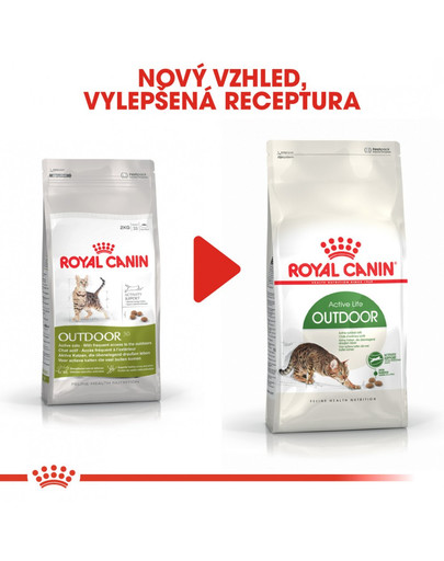 ROYAL CANIN Outdoor 2 kg granule pro kočky s častým pohybem venku