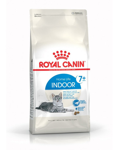 ROYAL CANIN Indoor 7+ 0.4 kg granule pro stárnoucí kočky žijící uvnitř