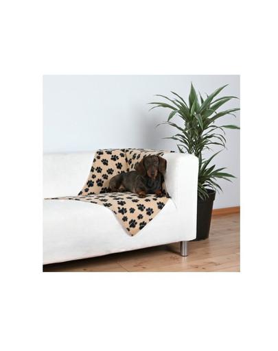 TRIXIE Deka pro psy BEANY béžová a černé tlapky 100x70 cm