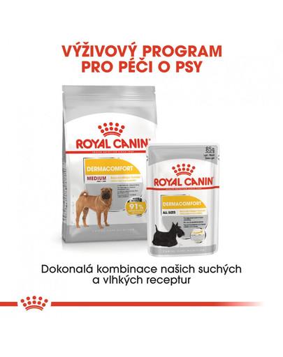 ROYAL CANIN Medium dermacomfort 3 kg granule pro střední psy s problémy s kůží