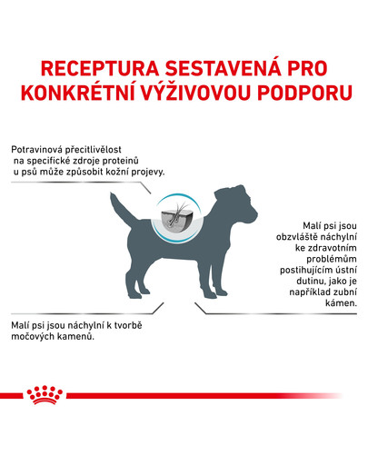 ROYAL CANIN Veterinary Health Nutrition Hypoallergenic Small Dogs 1 kg