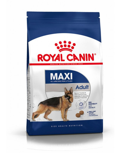 ROYAL CANIN Maxi adult 15 kg + 3 kg gratis granule pro dospělé velké psy