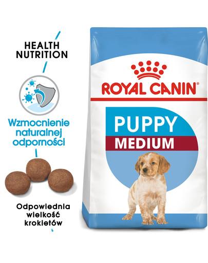 ROYAL CANIN ROYAL CANIN Medium Puppy 15 kg + 3 kg gratis granule pro střední štěňata