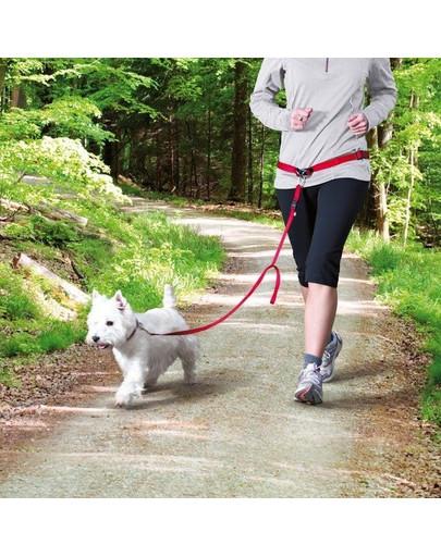 TRIXIE Pás na běh s nylonovým vodítkem červený