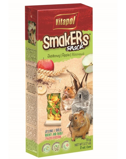 VITAPOL Smakers pro hlodavce-jablečné 2 ks