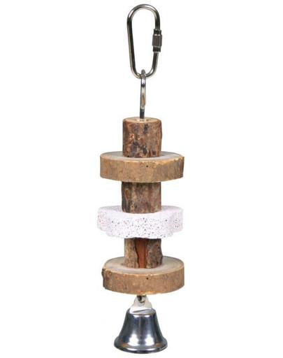 TRIXIE Hračka dřevěná se zvonkem 16 cm