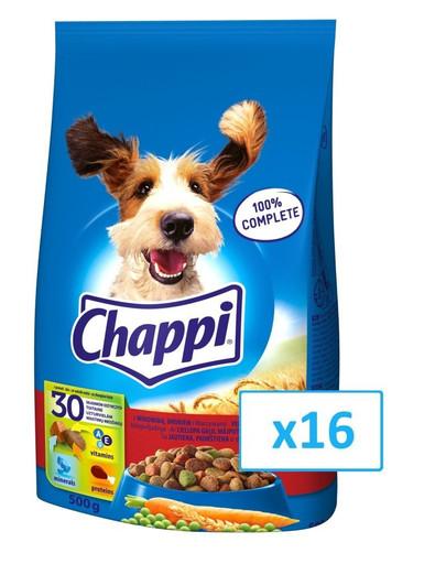 CHAPPI hovězí a drůběž 0.5 kg x16